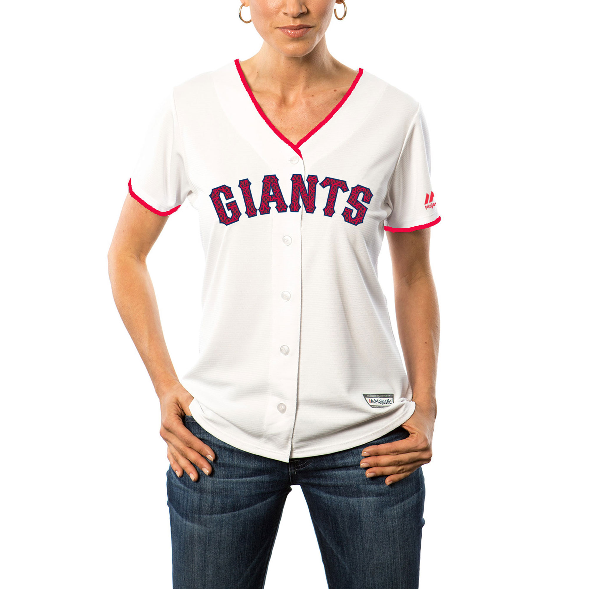 San Francisco Giants Majestic Women's Fashion Stars & Stripes Cool Base Jersey - White