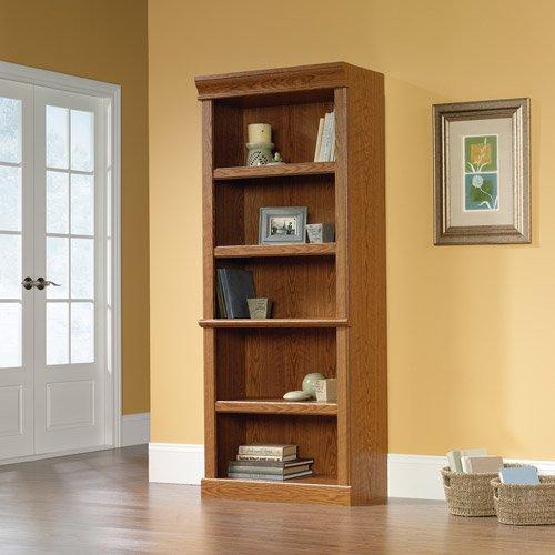 sauder orchard hills library bookcase carolina oak finish