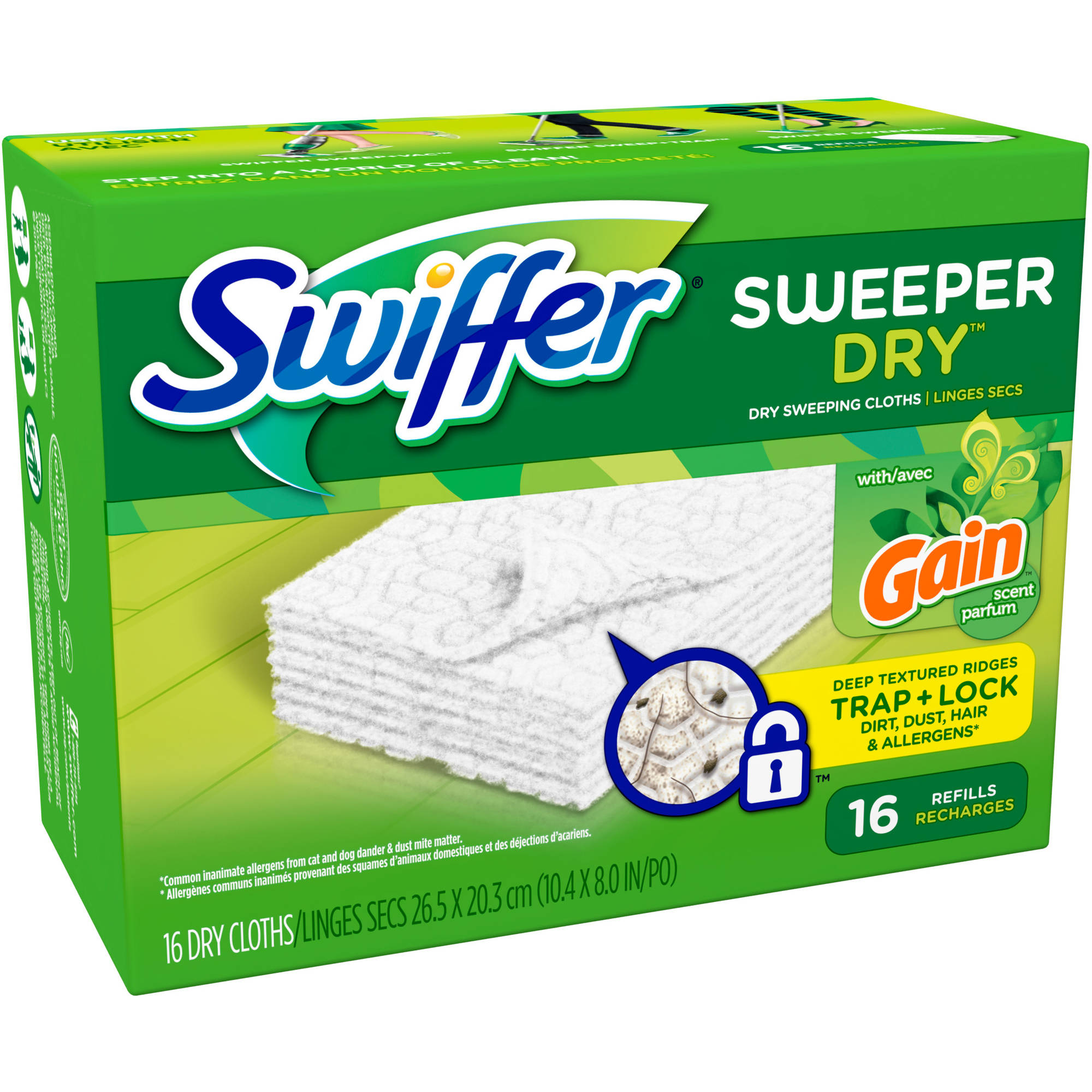 Swiffer Sweeper Dry Sweeping Cloths Refills, Gain Original Scent (choose your size)