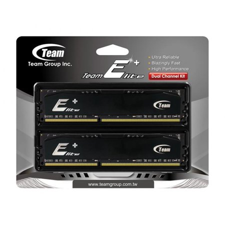 2GB Team Elite Plus Black DDR RAM PC3200 (3-4-4-8) Dual Channel kit for Desktops ()