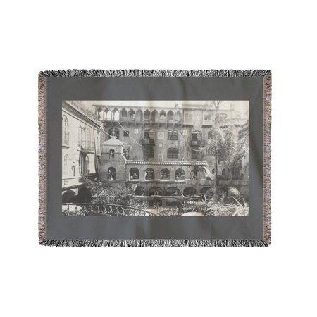 Mission Inn Spanish Patio View Riverside, CA Photograph (60x80 Woven Chenille Yarn Blanket) ()