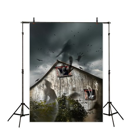 HelloDecor Polyster Halloween 5x7ft Theme terror party Backdrop background Computer Printed photography horrible ghosts escape the house dusk sky photo studio backdrops prop wallpaper mural](Escape Halloween Party Nyc)
