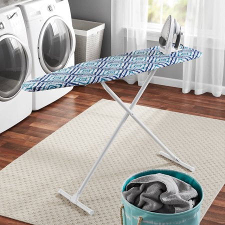 Mainstays T Leg Ironing Board For College  Multi Dye Diamond Cover
