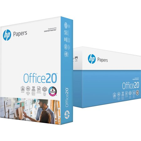 HP Papers Office20 Paper, 92 Bright, 20lb, 8.5 x 14, White, 500/Ream -HEW001422