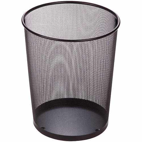 Honey-Can-Do 4.75-Gallon Mesh Metal Trash Basket
