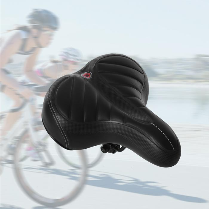 Wide Bum Saddle Seat Bike Bicycle Gel Cruiser Comfort Sporty Soft Durable Pad