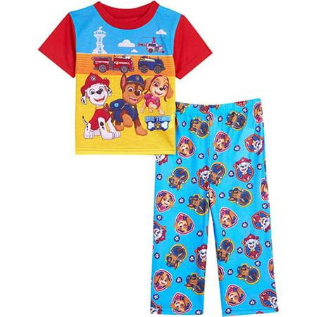 Paw Patrol Boys' Pajama Marshall 2-Piece Uniform Short Sleeve Top and Lounge Pants Set - image 1 of 3