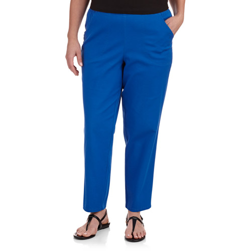 Just My Size Women's Plus-Size Stretch Straight-Leg Pull-On Twill Pants