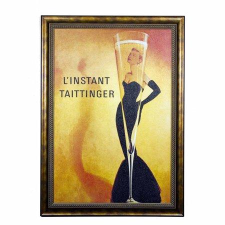 Art And Creative Marketing Champaign Elegance Linstant Taittinger Framed Art