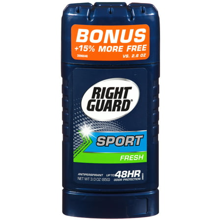 (3 pack) Right Guard Sport Antiperspirant Deodorant Invisible Solid Stick, Fresh, 2.6 Ounce Anti Perspirant Invisible Solid Stick