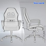 Ergonomic Office Chair Desk Chair PC Gaming Chair Rolling PU Leather Swivel Chair Executive Computer Chair Lumbar Support for Women, Men(Blue) - image 4 of 7