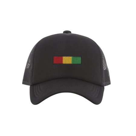 Rasta Stripe Trucker Hat (Striped Hat)