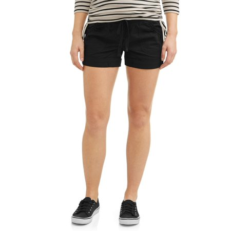 Planet Motherhood Maternity Cargo Cuffed Poplin Short