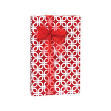 Hot Red Geo Graphic Links Birthday / Special Occasion Gift Wrap Wrapping (Hot Rod Gto)