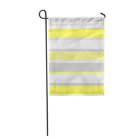 JSDART Bands of Wide Strips White Gray and Yellow Broad Garden Flag Decorative Flag House Banner 28x40 inch - image 1 of 1