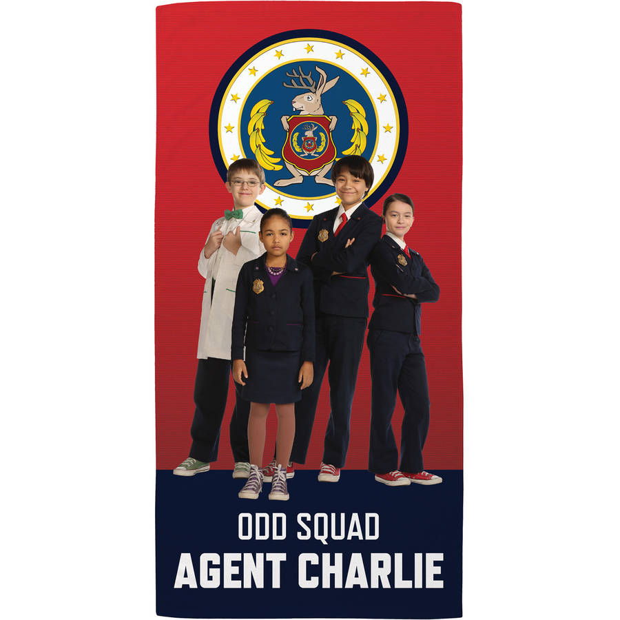 Personalized Odd Squad Calling All Agents Beach Towel