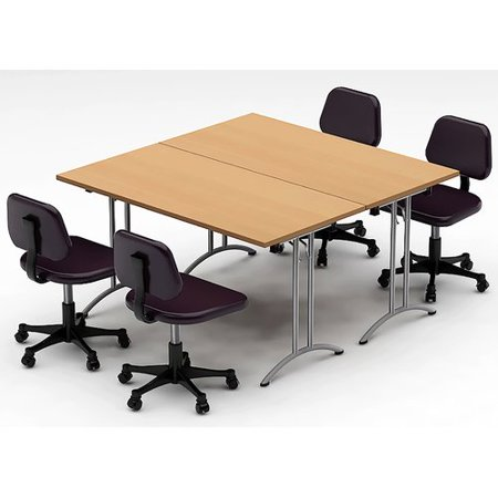 Team Tables Meeting Seminar Piece Square H X W X L - Square meeting table