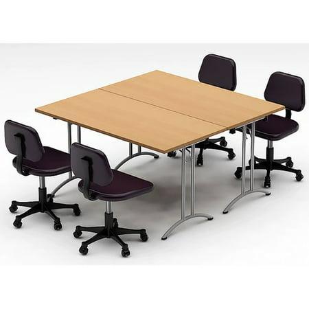 Team Tables Meeting Seminar Piece Square H X W X L - Square meeting table