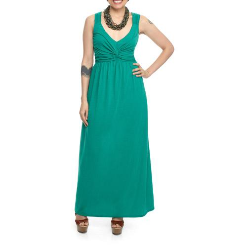 Miss Tina - Women's Twist Front Maxi Dress