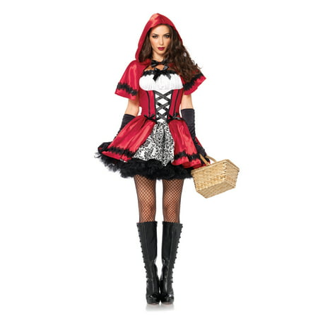 Gothic Red Riding Hood Adult Costume](Red Riding Hood Costume For Girls)