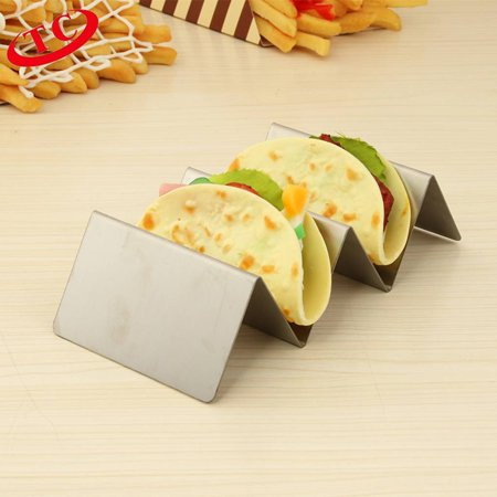 Stainless Steel Taco Holder Stand Wave Shape Taco Rack Biscuit Mexican Food Rack Pancake Cookie Stand Kitchen
