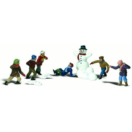 Woodland Scenics N Scale Scenic Accents Figures/People Set Snowball -