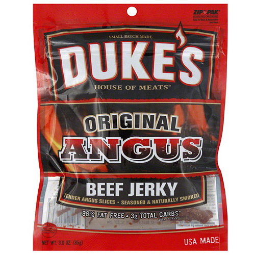 Duke's House Of Meats Original Angus Beef Jerky, 3 oz, (Pack of 8)