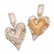 Scarf Accents-Layered Heart-Asst (Pack of 2)