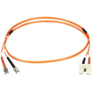Black Box 50-Micron Multimode Fiber Optic Value Patch Cable, Duplex, Zipcord Duplex Bx Cable Connector