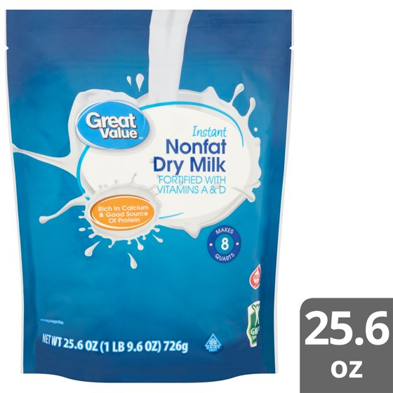 Great Value Instant Nonfat Dry Milk, 25 6 oz - Walmart com