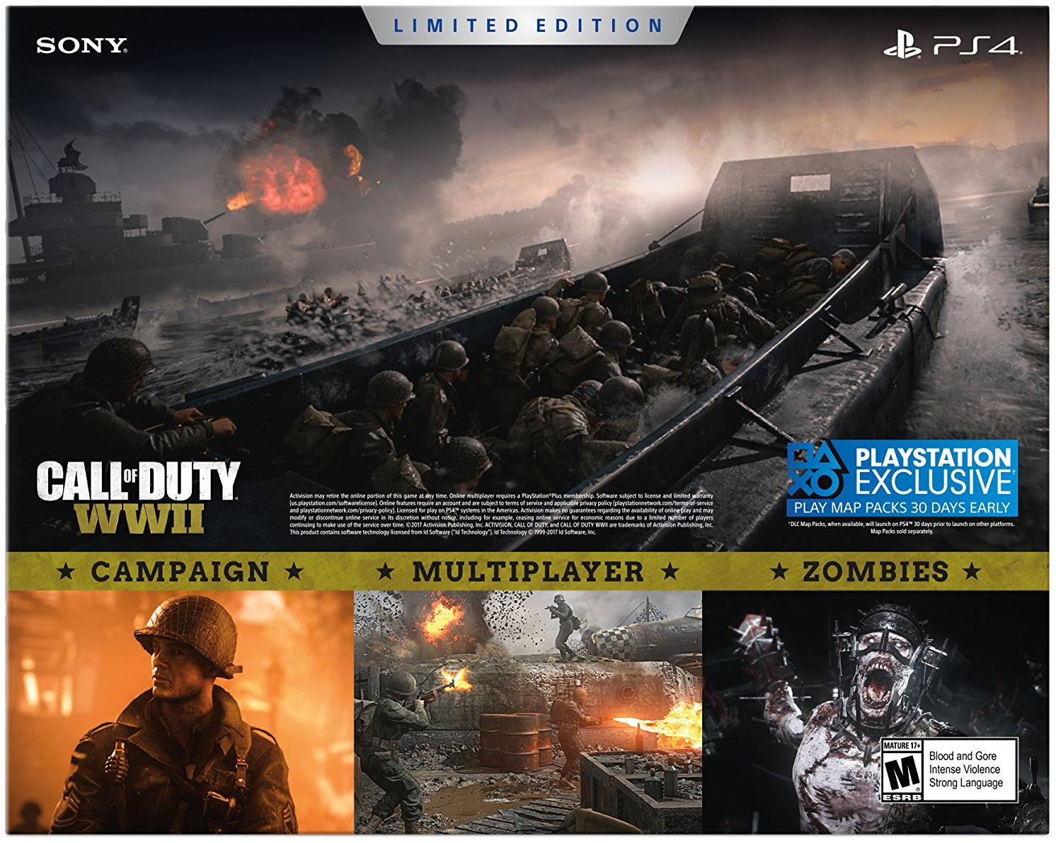 Sony Playstation 4 1tb Call Of Duty Wwii Limited Edition Bundle 3002200 Walmart Com Walmart Com