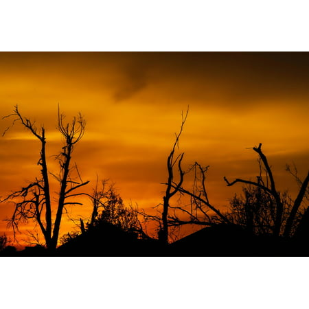 - Peel-n-Stick Poster of Sunset Sky Oklahoma Clouds Tornado DamagePoster 24x16 Adhesive Sticker Poster Print