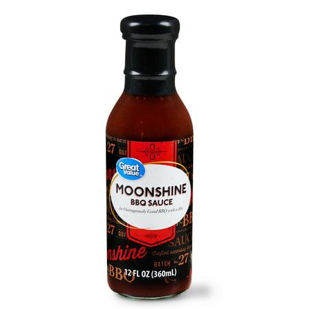 (2 Pack) Great Value Moonshine BBQ Sauce, 12 fl oz