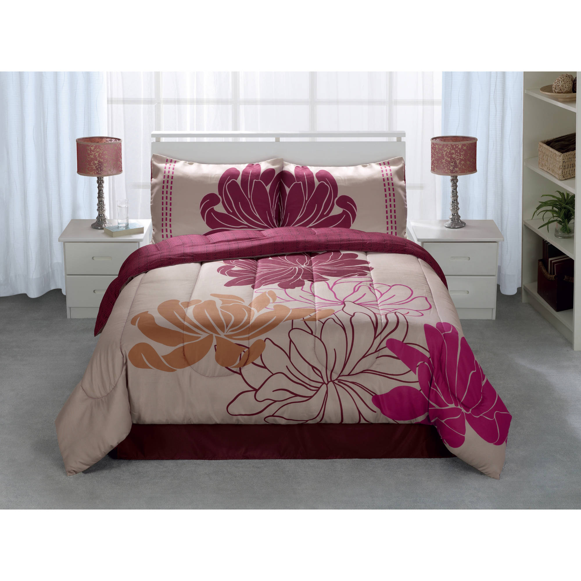 Casa Kiko 4-Piece Reversible Comforter Set