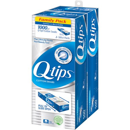 Q Tips Cotton Swabs  500 Ea   Pack Of 2