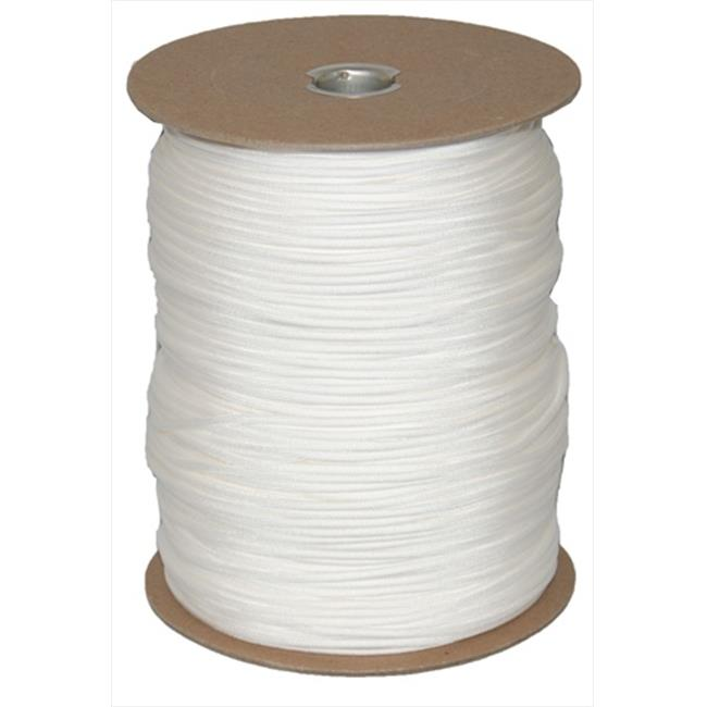 T.W. Evans Cordage 6510W Paracord 1000 ft. Spool in White