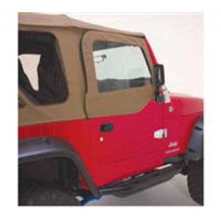 Smittybilt 1997-2006 Jeep Wrangler TJ Soft Top Door Skins Only Black Diamond