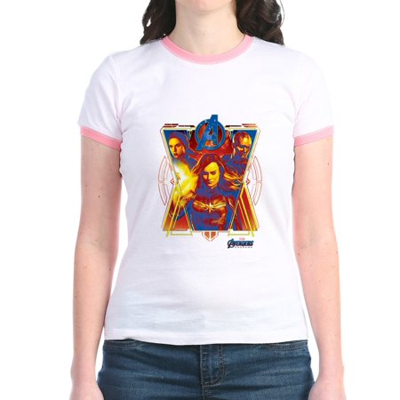 CafePress - Women Of Avengers Endgame Jr. Ringer T Shirt - Jr. Ringer T-Shirt, Slim Fit 100% Cotton