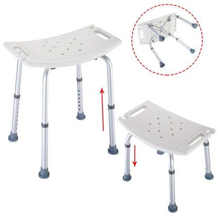 Zimtown Adjustable Elderly Bathtub Bath Tub Shower Seat Chair Bench Stool Seat ()
