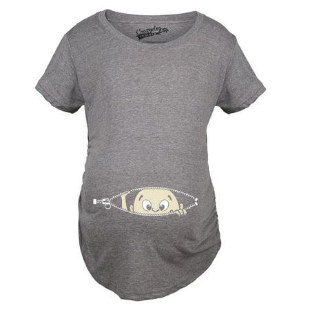 a225ab8033b86 Crazy Dog TShirts - Maternity Baby Peeking Shirt Funny Pregnancy Cute  Announcement Pregnant T shirts - Walmart.com