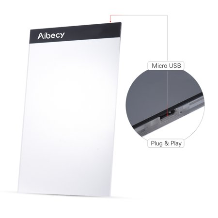 Portable A4 LED Light Box Drawing Tracing Tracer Copy Board Table Pad Panel Copyboard with USB Cable for Artist Animation Sketching Architecture Calligraphy Stenciling Diamond Painting - image 5 of 7