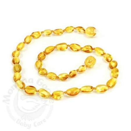 Momma Goose Amber Teething Necklace - Baby Olive Lemon Baltic Amber Teething ...