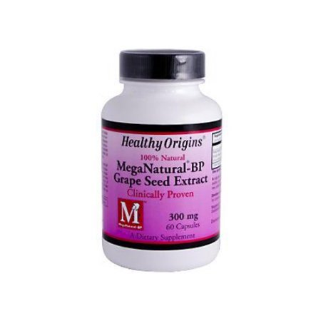 Healthy Origins Mega Natural-BP Grape Seed Extract - 300 mg - 60 (Grape Seed Extract Dosage For Aromatase Inhibitor)