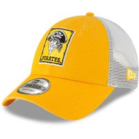 Pittsburgh Pirates New Era 1967 Cooperstown Collection Trucker 9FORTY Adjustable Snapback Hat - Gold - OSFA