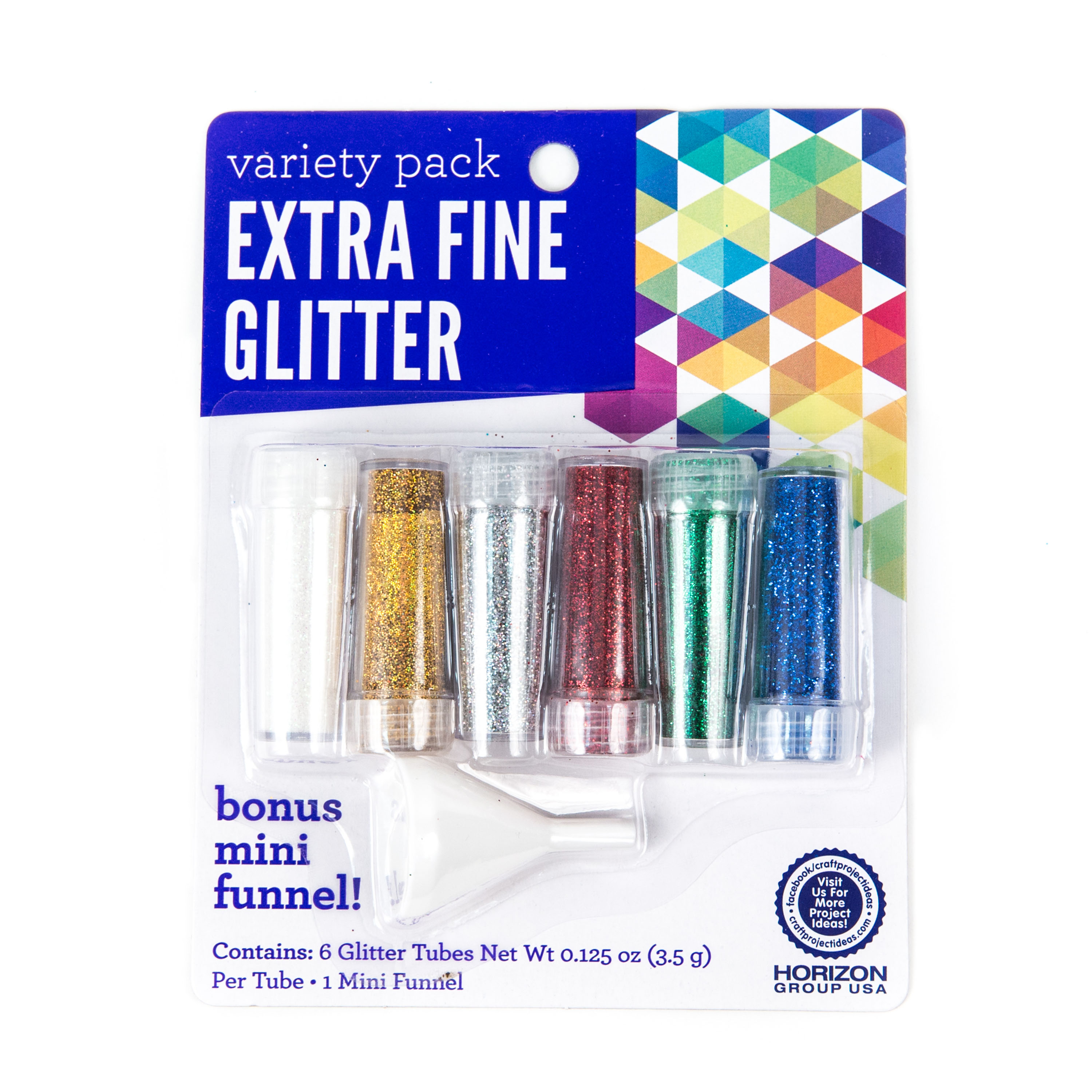 Extra Fine Glitter, 6 PK by Horizon Group USA