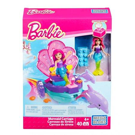Mega Bloks Barbie Mermaid Carriage Playset