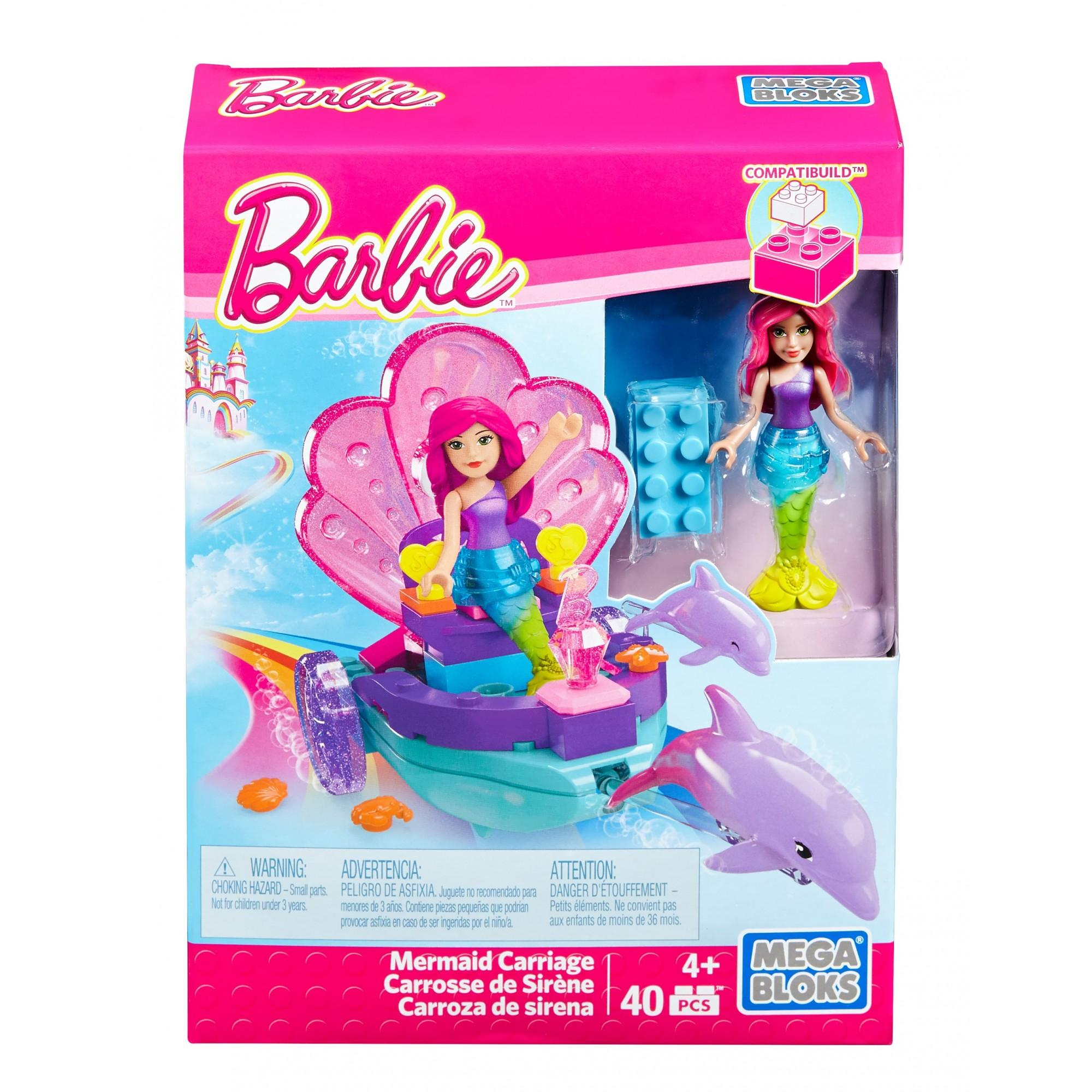 Mega Bloks Barbie Mermaid Carriage Playset