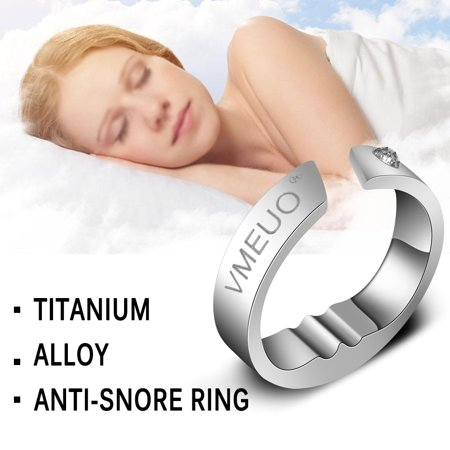 Titanium Steel Anti Snore Ring Acupressure Natural Treatment Against Snoring Stopper Device Finger Ring Sleep Health