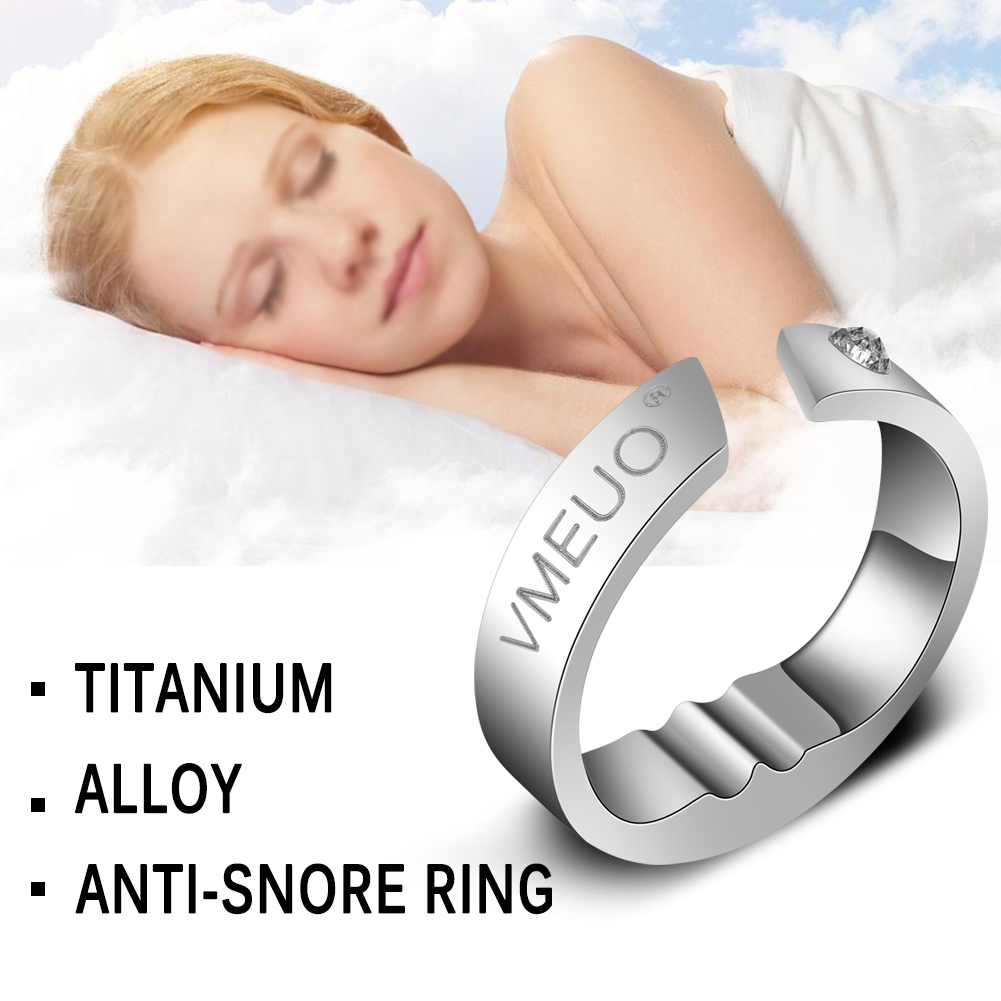 Titanium Steel Anti Snore Ring Acupressure Natural Treatment Against Snoring Stopper Device Finger Ring Sleep Health Care