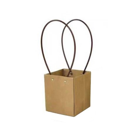 Brown Kraft Paper Packaging Bags Christmas Dessert Gifts Wrapper with Handles ()